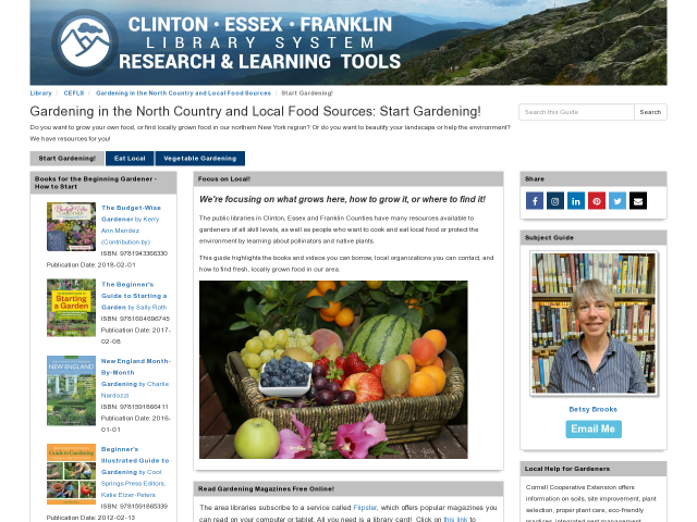 New Topic Guide on Gardening and Local Food Sources